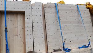 Parete legno massiccia | Case legno De Prà
