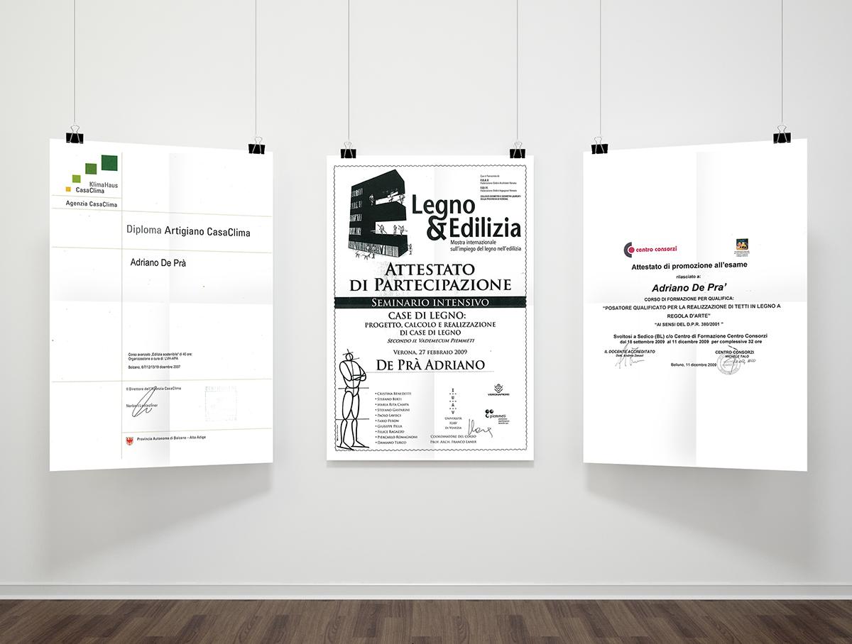 Documenti, certificati De Prà