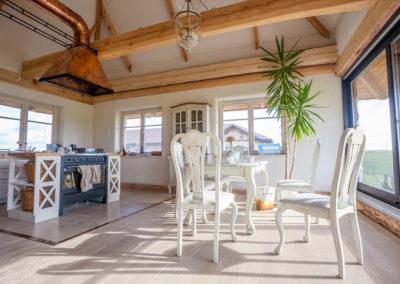 Interno casa realizzata con pannelli paglia Ecococon