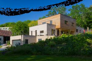 Casa realizzata con pannelli in paglia Ecocon