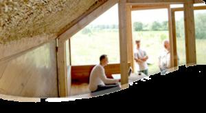 Illustrazione struttura paglia e legno