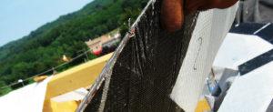 giunto tetto fibra di carbonio