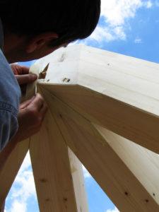 giunto tetto legno alta precisione