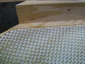 giunto rinforzato dettaglio fibra di vetro