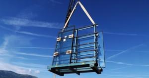 Sollevamento vetrate