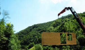 Scarico parete di legno