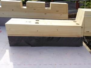 parte finale tetto legno